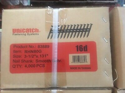 3-12 X .131 Smooth Galv. 21 Framing Nails 4000case Hitachidewaltsenco 4k