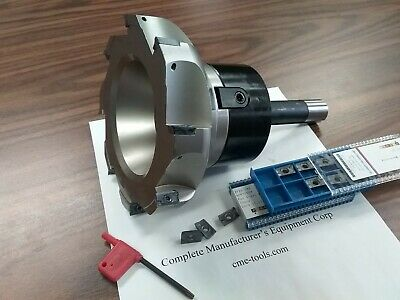 6 90 Degree Indexable Face Shell Mill 20 Extra Apkt1604 Inserts W. R8 Arbor