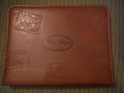 Large Brown Coast Deluxe Vinyl Zipper Binder Planner Organizer 16 X 12