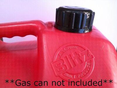 Blitz Gas Can Cap Transportation Storage Closed Screw Cap W Viton Gasket Solid