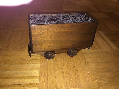 Bergbau Zeche Vintage Lore Modell aus Holz mit echter Kohle Dekoration Bergmann
