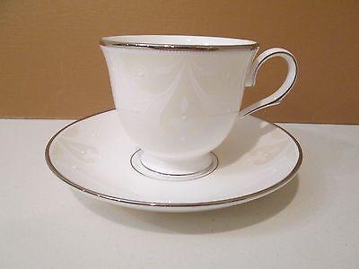 - LENOX OPAL INNOCENCE SCROLL CUP & SAUCER - 3 1/8