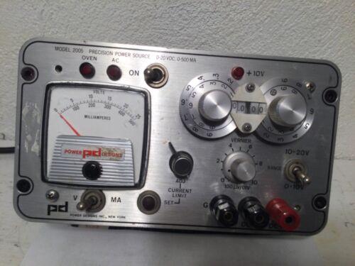 PD Precision Designs, Inc. Model 2005, Precision Power Source, 0-20VDC, 0-500MA