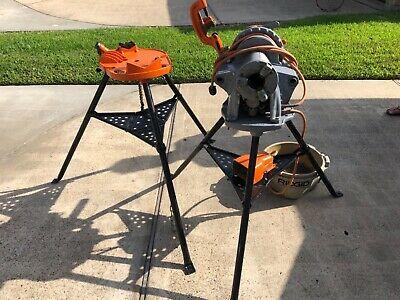 Ridgid 300 T2 Power Pipe Threader With Stands