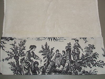 CREAM HAND TOWELS Waverly Black Cream French Country Life To