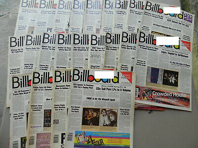 1987  BILLBOARD Magazine Lot of 22 Weeks you get 22 Magazines all have label