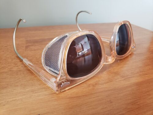 Vintage MSA Safety Glasses With Green Lenses And Cable Temples