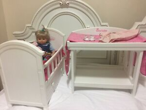 American Girl Bitty Baby Doll, Crib And Change Table