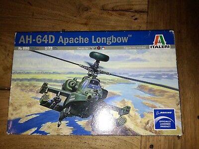 Italeri AH-64D Apache Longbow Helicopter 1:72 Model Kit Free p&p