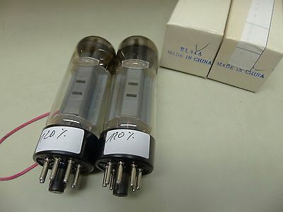 Matched Pair Excellent EL34 CHINA NOS TESTET Tube Valvola Röhre