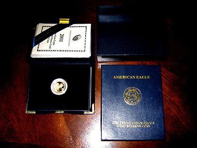 2011-w 1/10 oz Proof Gold American Eagle (w/Box & COA)