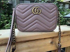 Gucci GG Marmont Matelasse Mini Shoulder Bag In Nude