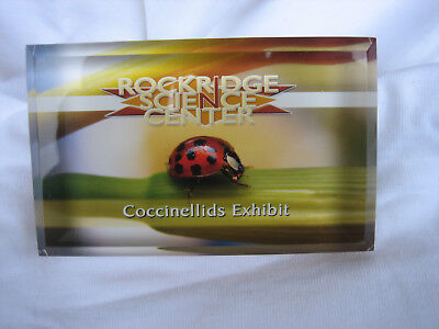 Flower Lady Bug Art Glass ladybug Dome Balanced Paperweight  Beetle Coccinellids