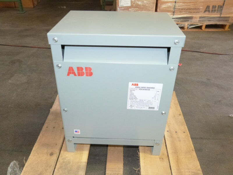 ABB 15 KVA Transformer Pri 480v Sec 208Y/120 3PH GP0015AH480Y208 NEW