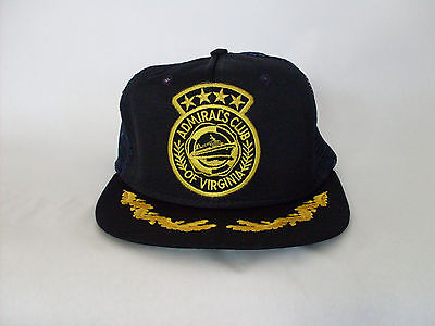 Admiral's Club of Virginia Trucker Hat Gold Leaf - Admiral Hats
