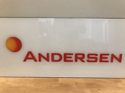 Arthur Andersen Sign from Atlanta CPA Firm Office Signage Business History Enron