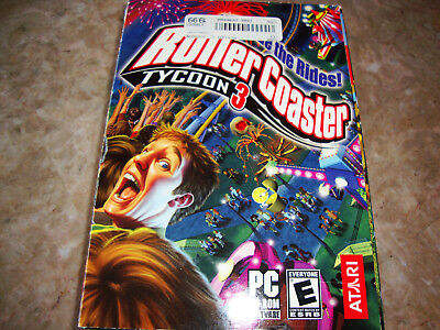 ROLLERCOASTER TYCOON 3 SLEEVE BOX JEWEL CASE AND SPIRAL GUIDE ONLY NO GAME (Cd Jewel Case Template)