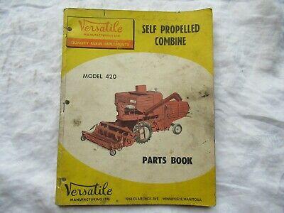 1967 Versatile Model 420 Combine Parts Catalog