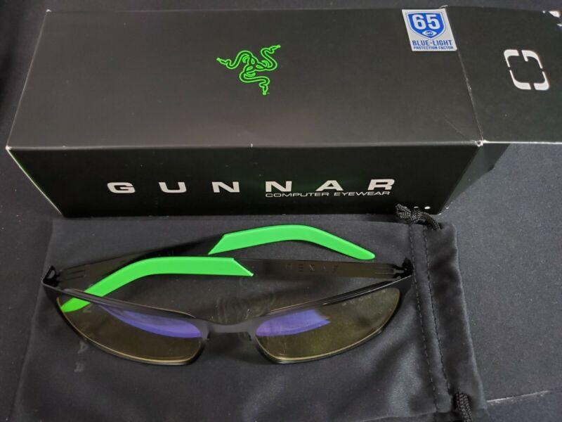 Gunnar Razer FPS Onyx Amber Gaming Computer Glasses *READ DESCRIPTION*