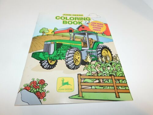 John Deere Coloring Book with stickers-UNUSED
