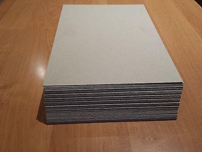Pappe Karton Graupappe 70 x 50 cm  10 St. grau/grau 1,5 mm