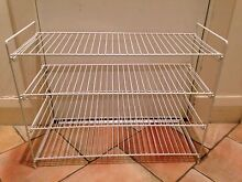 Spacious Handy 4 Level White Metal Shoe Rack Coogee Eastern Suburbs Preview