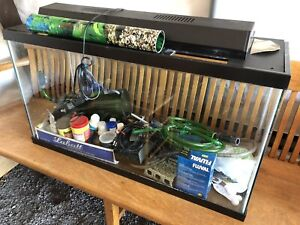 Large fish tank with accessories