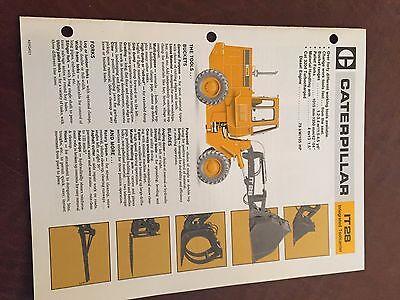 Caterpillar Cat It28 Wheel Loader Brochure Original Antique Tractor New