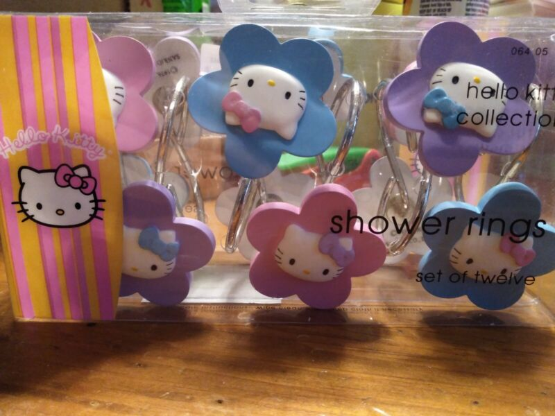 Hello Kitty Shower Curtain Rings