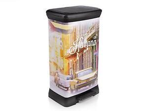Curver Mülleimer Tretpedal Havana Abfalleimer Abfallbehälter Mülltonne 50 L