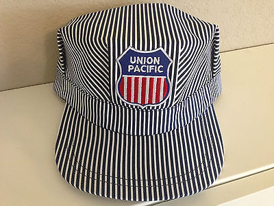 Adult Conductor Hat (Engineer/Conductor Cap /Hat -UP Union Pacific - adjustable -Adult or Child -NEW)