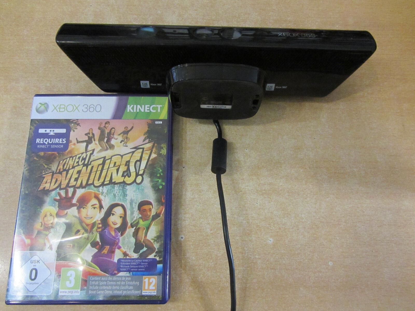Microsoft Kinect Sensor Kamera für XBOX 360 + Adventures Game Activ Sport Spiel