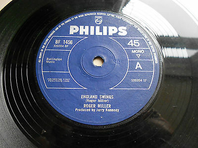 ROGER MILLER - ENGLAND SWINGS / THE GOOD OLD DAYS (PHILIPS BF 1456) UK 1965 7''