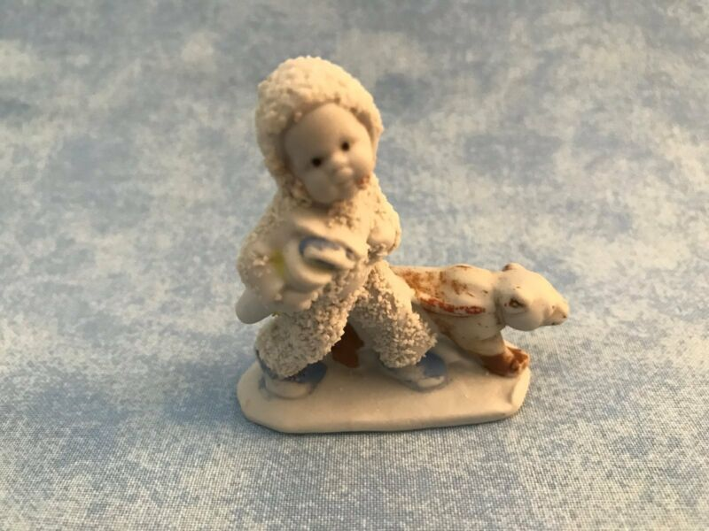Antique Vintage Bisque Snow Baby w/Bear Germany