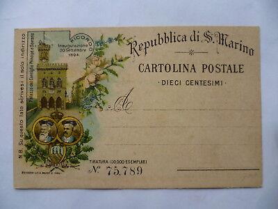 AK Vorläufer San Marino Inaugurazione 30. Settembre 1894