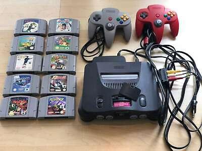 Nintendo N64 Konsole + 2 Controller +10 Spiele Super Mario Kart 64 Banjo Kazooie