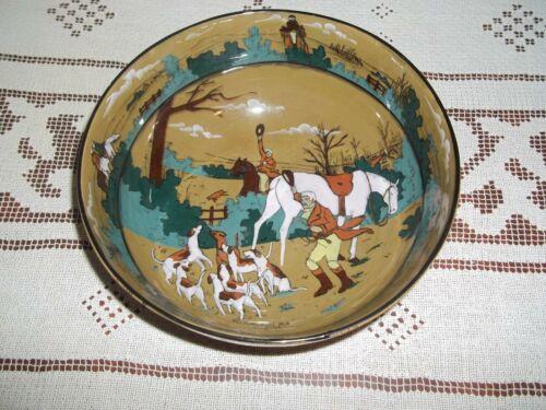Buffalo Pottery Deldare  Fallowfield Hunt The Death Bowl 1909