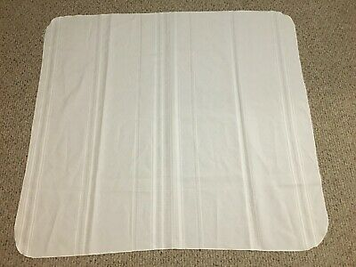 SMALL WHITE TABLE CLOTH WITH STRIPES for sale  Shipping to India