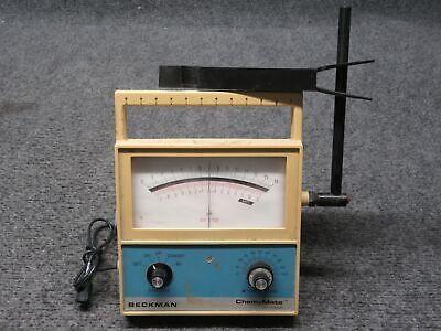 Beckman Chem-mate Portable Benchtop Ph Meter Tested