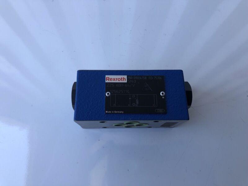 Rexroth R900347510 Bosch Hydraulic Check Valve Z2S 6B1-64/V NEW FREE SHIPPING!!!