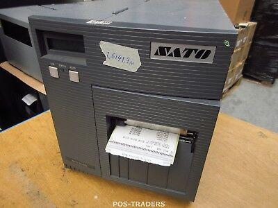 """SATO CL408E Parallel Thermo Label Drucker REWINDER 203dpi 4.1"""" 104mm - 26191.7 M"""