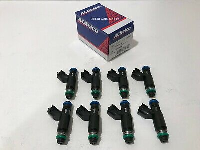 8 NEW OEM 12580426 DENSO Fuel Injectors For GMC CHEVROLET 5.3L FLEX FUEL