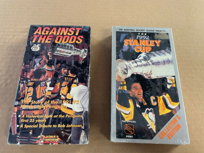 Pittsburgh Penguins 1991 & 1992 Stanley Cup VHS Tapes New! Sealed!