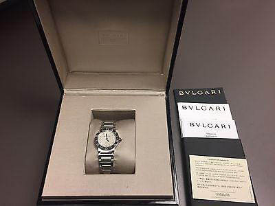 bulgari BVLGARI Mother of Pearl Diamond Dial Stainless Steel 26mm Ladies watch