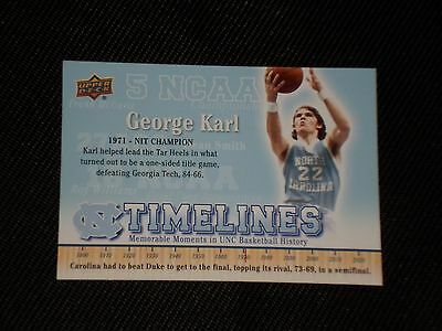 George Karl 2011 Ud North Carolina Signed Autographed Card  153