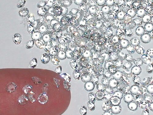 30pc Fun tiny little Crystals rhinestone gems bottle sold separate 3mm Clear