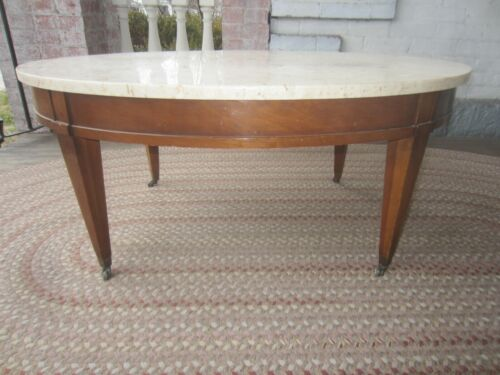 Vintage Marble Coffee Table Fruit wood all original Italy Beautiful