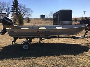 14 ft aluminum boat & 2006 15hp 4-stroke Mercury