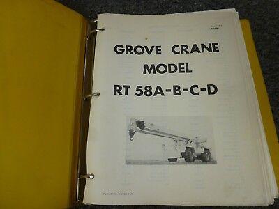 Grove Rt58a Rt58b Rt58c Rt58d Rough Terrain Crane Shop Service Repair Manual