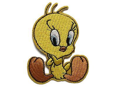 Shy Tweety Bird Embroidered Iron On Applique Patch (Shy Birds)